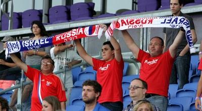 גם אוהדי נבחרת רוסיה מודים לנבחרתם (יניב גונן)