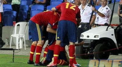 שחקני ספרד חוגגים (יוסי ציפקיס)