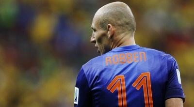 אריאן רובן. האיש של ההולנדים בטורניר (רויטרס)
