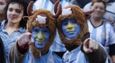 אוהדי נבחרת ארגנטינה (רויטרס)
