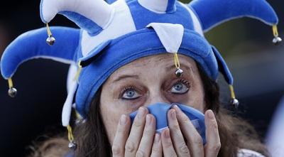 אוהדת מודאגת של ארגנטינה (רויטרס)
