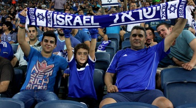אוהדים ישראלים ביציע (יניב גונן)