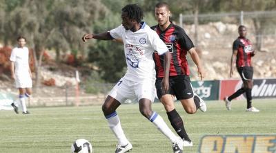 עבדול ראזק במהלך משחק ההישארות מול הפועל חיפה (שי לוי)