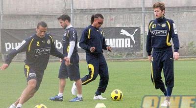 דווידס מתאמן עם שחקני מכבי תל אביב (ליאור טימור)