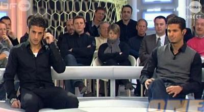 אוחיון וביטון בטלוויזיה הבלגית (צילום מסך) (ONE)