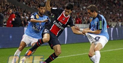 עדן בן בסט (משמאל). שער שני בליגה הצרפתית (רויטרס)