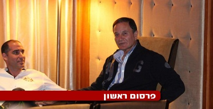אלי כהן וקורנפיין במהלך הפגישה הערב (גיא בן זיו)