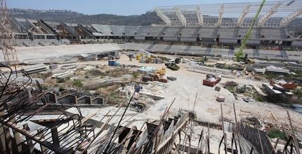 היכל הכדורגל החדש בשלבי הבניה (עמית מצפה)