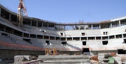 הארנה בירושלים. הבניה תושלם רק ב-2014 (יניב גונן)