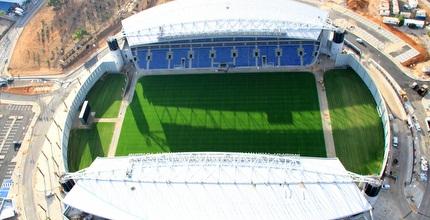 האצטדיון החדש במבט עילי (דביר מצנחי רחיפה)