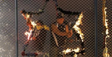אוהדי סן חוזה משתוללים מול קורינתניאנס (רויטרס)