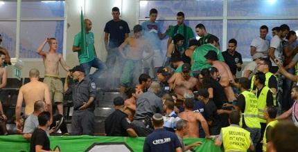אלימות אוהדי מכ´ חיפה באילת (יאיר שגיא Ynet Sport)