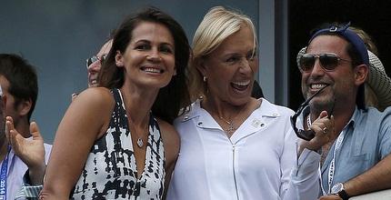 מרטינה נברטילובה ובת זוגה מאושרות בחצי הגמר