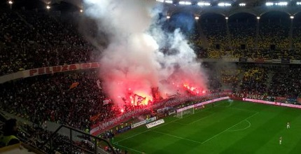 האבוקות באצטדיון בבוקרשט (מערכת ONE)