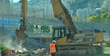 הדחפורים באצטדיון קריית אליעזר (עמרי שטיין)