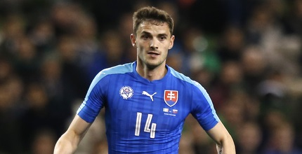סאבו במדי נבחרת סלובקיה. חיזוק משמעותי (רויטרס)