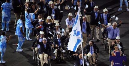 המשלחת הישראלית בטקס הפתיחה (רויטרס)