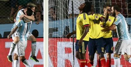ליאו מסי כיכב, 0:3 לארגנטינה על קולומביה