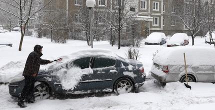 שלג במינסק (רויטרס)