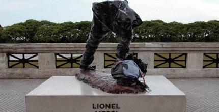 הפסל של ליונל מסי (טוויטר)
