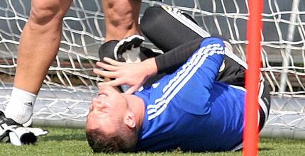 ראיקוביץ' נפגע בידו באימון מכבי אך חזר להתאמן