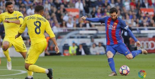 ליאו מסי בועט לשער (La Liga)
