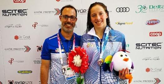 לאה פולונסקי ועידו אפל (באדיבות הוועד האולימפי בישראל)