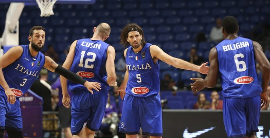 שחקני איטליה חוגגים (איציק בלניצקי)