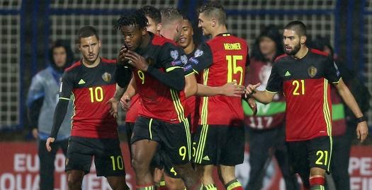 שחקני בלגיה בטירוף (רויטרס)