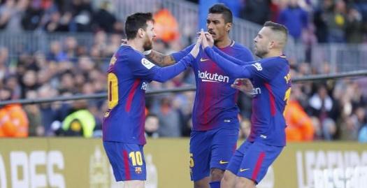 אלבה, פאוליניו ומסי חוגגים (La Liga)