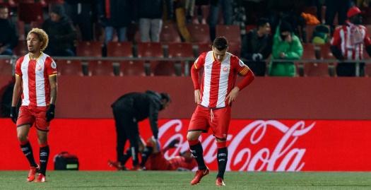 שחקני ג'ירונה מאוכזבים (La Liga)