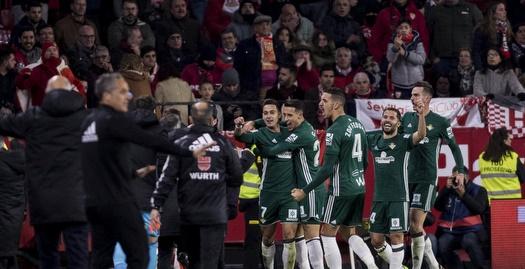 שחקני בטיס חוגגים ברמון סאנצ'ס פיחואן (La Liga)
