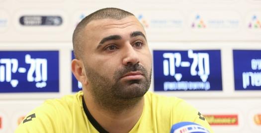 ערן לוי במסיבת העיתונאים (רדאד ג'בארה)