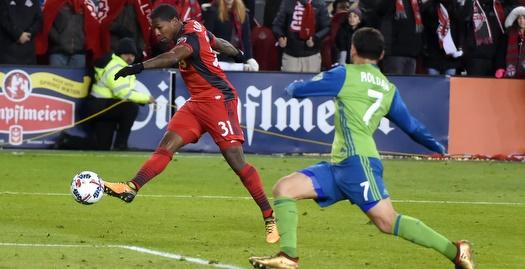 משחק בין טורונטו לסיאטל ב-MLS (רויטרס)
