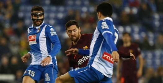מסי במהלך ההפסד לאספניול בגביע (La Liga)