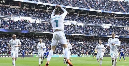 ריאל מדריד ניצחה 0:4 את אלאבס, צמד לרונאלדו