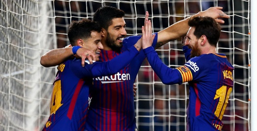 מסי, סוארס וקוטיניו. הצגה (La Liga)