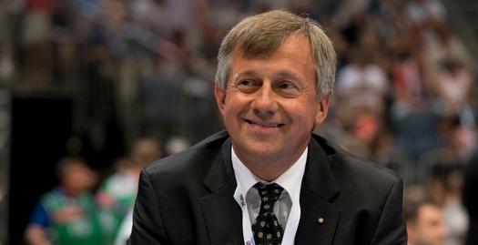 נשיא האיגוד האירופי, מיכאל וידרר (צילום: EHF)