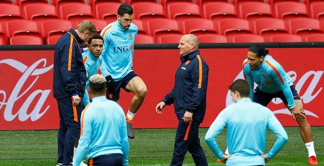 ואן דייק, קומאן ושחקני נבחרת הולנד (רויטרס)