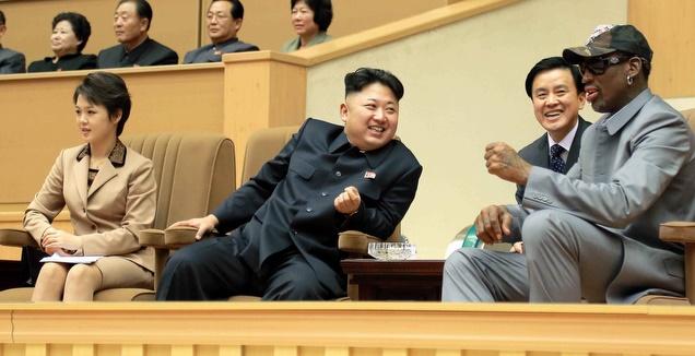 דניס רודמן עם קים ג'ונג און (רויטרס)