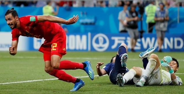 צ'אדלי חוגג את שער הניצחון נגד יפן (רויטרס)