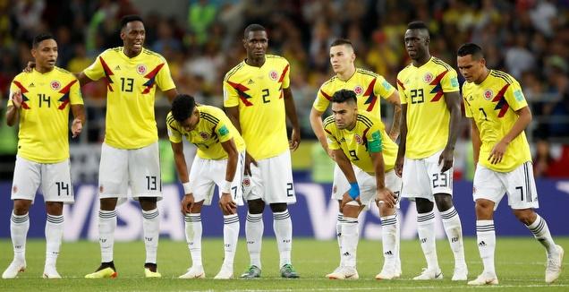 שחקני קולומביה בהלם (רויטרס)