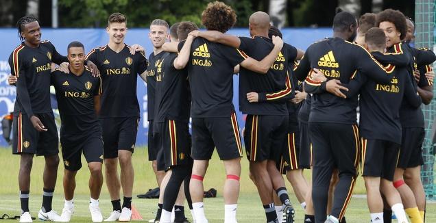 נבחרת בלגיה באימון המסכם (רויטרס)