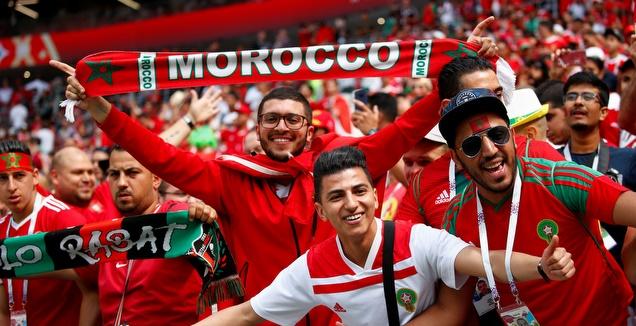 אוהדי נבחרת מרוקו (רויטרס)