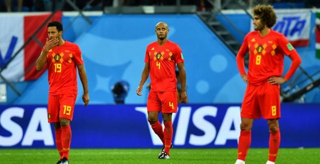 שחקני בלגיה מאוכזבים (רויטרס)