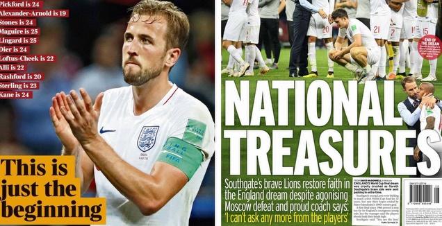 כותרות העיתונים באנגליה