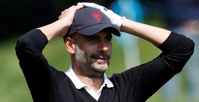 פפ גווארדיולה במשחק גולף (רויטרס)