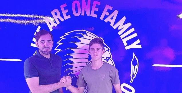 בן לדרמן ודודו דהאן לאחר החתימה בגנט (טוויטר דודו דהאן)