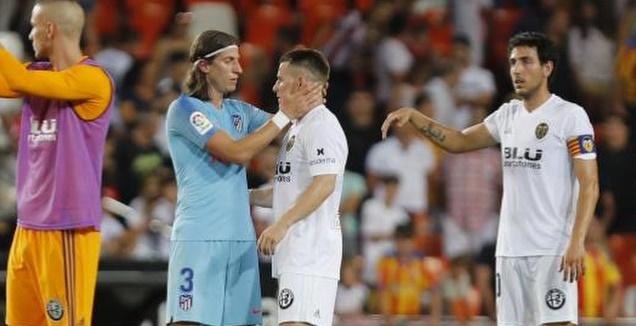 פיליפה לואיס בסיום המשחק (La Liga)