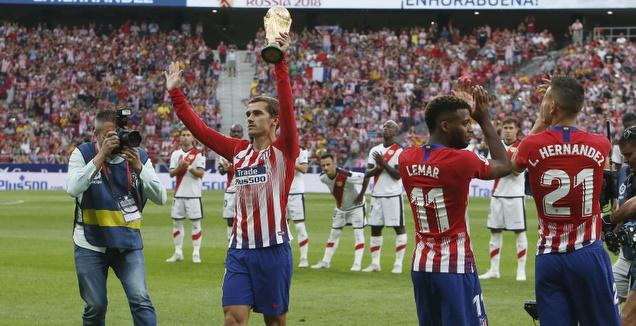 אנטואן גריזמן מציג את גביע העולם (La Liga)